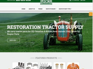 tractor parts woocommerce project